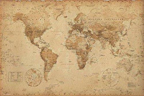 1art1 Historische Landkarten - Weltkarte, Ye Olde, In Englisch Poster 91 x 61 cm