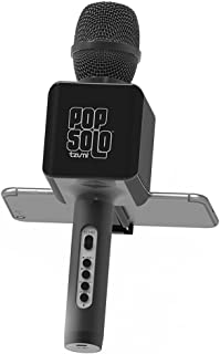 Tzumi Pop Solo Bluetooth Karaoke Microphone Voice Mixer with Smartphone Holder