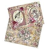 Ideen mit Herz 2 Bogen Reispapier | Edel-Decoupage-Papier | DIN A4 | 2 Verschiedene Designs |...