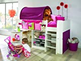 Steens For Kids Kinderbett, Hochbett, inkl. Lattenrost und Absturzsicherung, Liegefläche 90 x 200 cm, MDF, weiß - 2