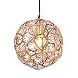 TJLSS Westinghouse Lighting Light - Lámpara de Interior, Acabado en níquel Cepillado (Color : Gold, Size : Copper-30cm/11.81in)