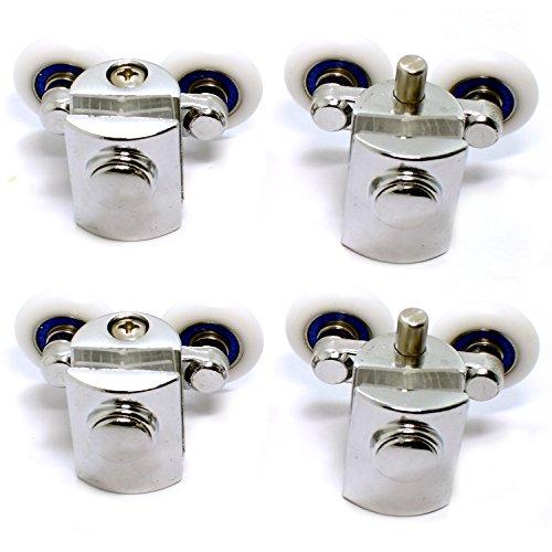 Doppel-Rollen für Duschkabinentür, 4 Rollen (2 oben, 2 unten) (23mm)