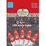 Maxx Flex Kringle Bros RED M6 Diamond Cut LED Icicle Lights - 150 Lights - 9.5 ft Long