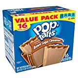 Kellogg's Pop-Tarts Frosted Brown Sugar Cinnamon - Toaster Pastries Breakfast for Kids, Value Pack (16 Count)