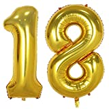 Tellpet Gold Number 18 Balloon, 40 Inch