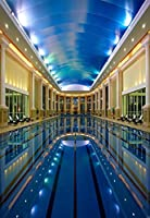 GooEoo 5×7FTビニール背景薄写真撮影の背景高級ホテルプールNatatoriumスポーツ会場大人子供子供たちの肖像画背景1.5(W)X 2.2(H)Mフォトスタジオプロップ