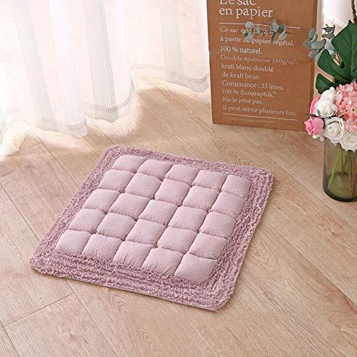 GJBHD Thicken Quilted Floor Cushion,Cotton Honeycomb Seat Cushion Floor Tatami Not-Slip Comfortable Mats Free Home Decor-d 45x45cm(18x18inch)