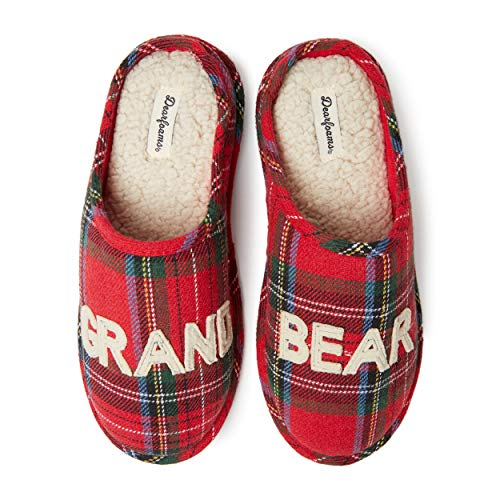 Price comparison product image Dearfoams Unisex Grand Bear Clog Slipper Charming,  Cozy and Comfortable in Classic Patterns and Colors - Cushioned Insole with Memory Foam Indoor / Outdoor Rubber Outsole