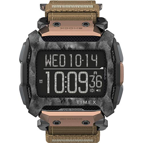 Timex Command Shock Digital CAT 54mm Watch – Bronze & Gray with Fast Wrap Strap