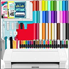 """Silhouette Cameo 4 with Bluetooth and Manufacturer's 1 year Warranty. No Internet Connection Required.Now able to cut 12"""" and up to 60 feet long rolls of media. 38 Sheets of Oracal651 Premium Vinyl - 12"""" x 12"""", 12 Sheets of Premium Transfer Tape - ..."""
