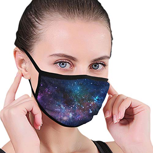 Funny Mouth Cover Dustproof Washable Reusable Star Field In Space A Nebulae And A Gas Congestion Protective Safety Warm Windproof for Women Men