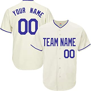Cream Custom Baseball Jersey for Men Women Youth League Embroidered Team Player Name & Numbers S-5XL Black