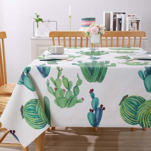 Kuingbhn Mantel Mesa Rectangular Impermeable PVC Anti Escaldado para Comedor Cocina o Salón Blanco Amarillo 120 × 120cm
