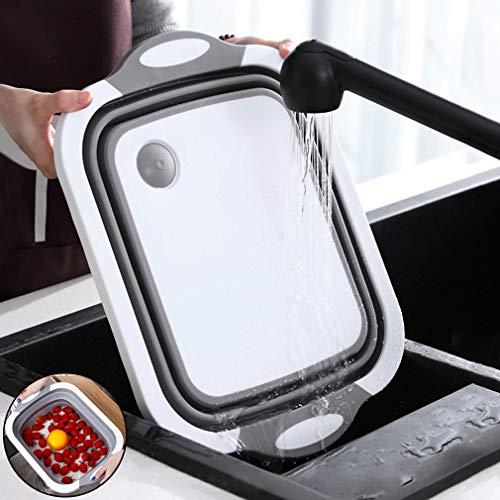 Brotbrett faltbar Abtropfkorb tragbare Schneidebrett Camping Korb Küche Aufbewahrungskorb Multifunktion Schüssel klappbar Spülbecken Kunststoff