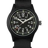 Infantry Herren Uhr Armbanduhr Männer Militär Uhren Outdoor Herrenarmbanduhr Männeruhr Herrenuhr Schwarz Nylonband