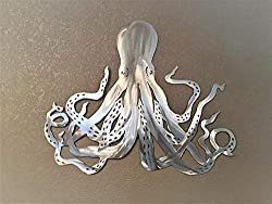 gifts for octopus lovers ~ metal wall art