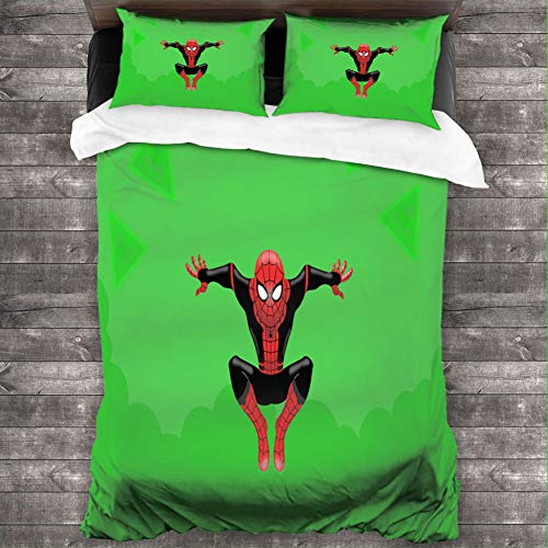 Loruoaine Bedding Setlittle Spiderman Background oeBed Quilt Pillow Cover