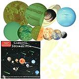 YOTINO Pegatinas Fluorescentes de 9 Planetas del Sistema Solar Pegatinas de Pared Decorativos 3 Hojas Adhesivo de Estrella Fluorescente para Habitación Niños