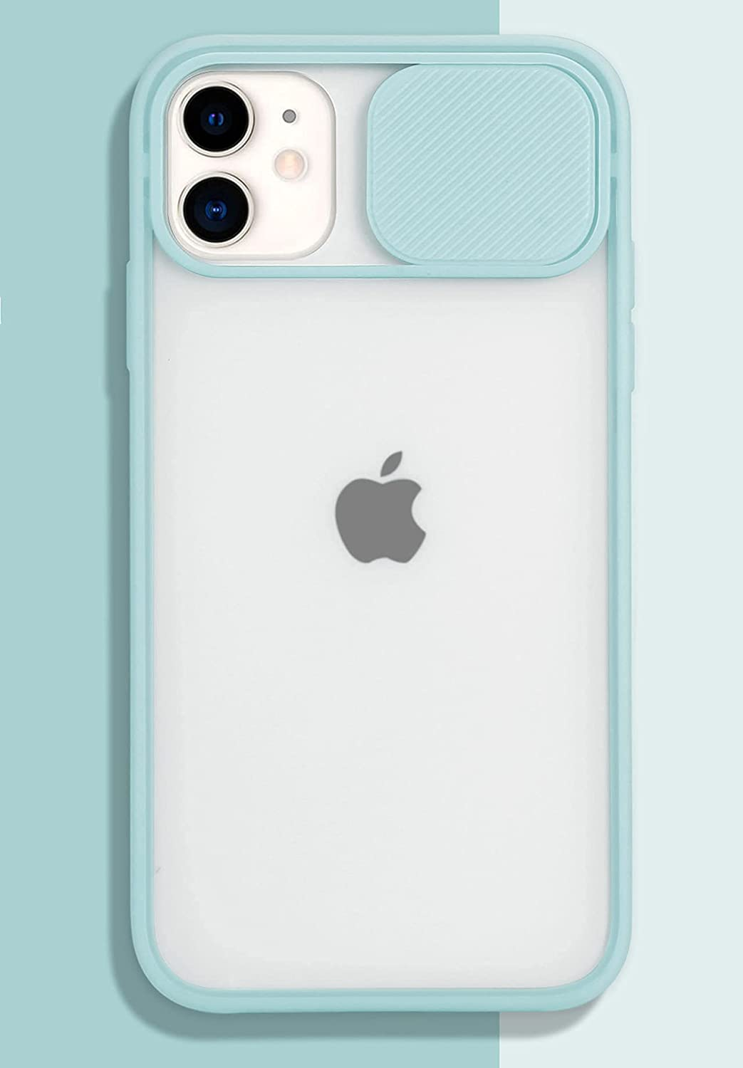 iPhone 11 Pro Max Case with Camera Cover [Slide Camera Lens Protection][Matte Soft Bumper][Anti-Fingerprint] Camera Lens Protector Slide Camera Cover Case for iPhone 11 Pro Max LightBlue