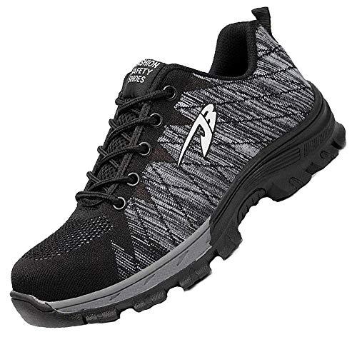 Obuwie ochronne męskie i damskie buty robocze z podszewką stalowy nosek wodoodporne buty ochronne letnie sportowe lekkie oddychające buty antypoślizgowe 36-48