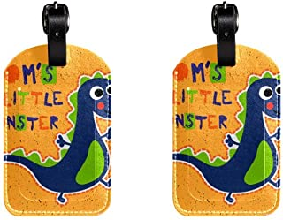 Littter DinosaurLeather Luggage Tags Suitcase Labels Bag Travel ID Bag Tag, 1 Pcs