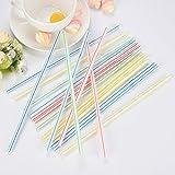 100 pajitas de plástico flexibles de colores para el hogar, fiestas, cócteles, salones, bares