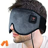 Creatrill X-Large Heated Eye / Sinus Mask, USB Heating Compress Pad for Dry Tired Puffy Eyes, Dark Circle, Migraines Headache, Blepharitis, Sties, Sinus Pain Pressure Relief Hot Therapy (Gray)