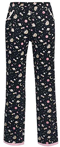 Pusheen Zzz Frauen Pyjama-Hose schwarz XXL 100% Baumwolle Fan-Merch, Katzen