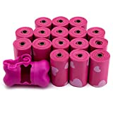 Best Pet Supplies Dog Poop Bags, Rip-Resistant and Doggie Waste Bag Refills With d2w Controlled-Life Plastic Technology - Pack of 240, Pink Heart (Scented)