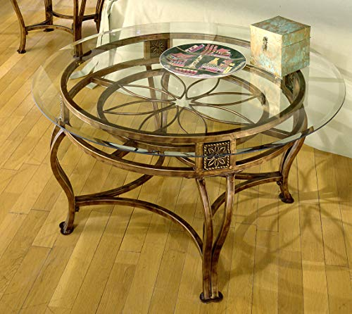Gold Round Glass Coffee Table for the Living Room