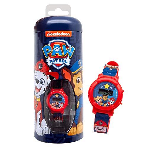 Paw Patrol Digitaluhr, mit verstellbarem Armband und Muster, mit Metalletui zum Schutz oder zur Verwendung als Spardose, für Kinder ab 3 Jahren, offizielles Produkt