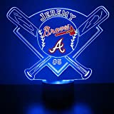 Braves Baseball Sports Fan Lamp / Night Light...