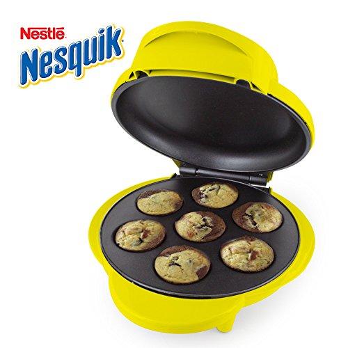 Smart Planet MCM‐1NQ Nestle Nesquik Cupcake and Brownie Bite Maker, Yellow