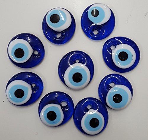 5X AUS GLAS 4 cm nazar boncugu blaue Auge Hochzeit Muhammed Dekotarion Allah Gastgeschenk Mevlüt Bebek Sekeri Sünnet Kina Nikah Beschneidung