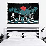 Gsknva Abstract Art Anime Large Demon Slayer Tapestry Wall Hanging Curtain 60x40 Inches Decor Bedroom Dorm Living Room Home Beach Coverlet Poster Popular Decoration