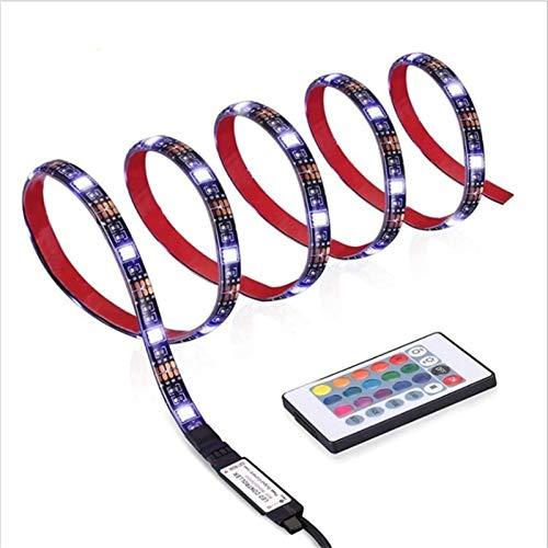 Tira LED 5M USB SMD 5050 Blackboard RGB Fondo Colorido Etapa Decoración con 24 Teclas Controlador