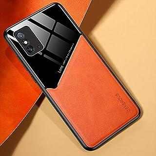 LENASH För Huawei ära X10 max 5g all-inclusive läder + organiskt glas skyddsfall med metalljärn Fallskydd (Color : Yellow)