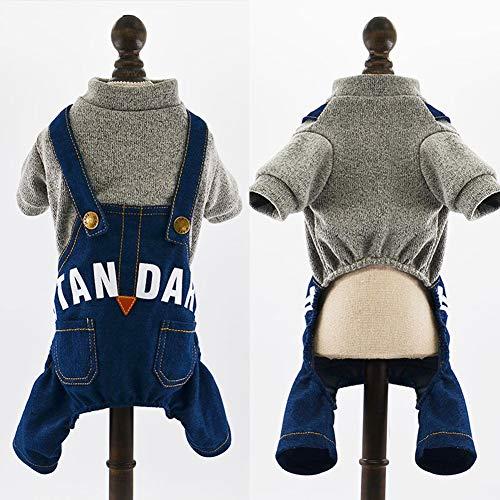 XPC-Haustierkleidung Hundekleidung Lieber Bär Winter Warm Haustier Pyjamas Katzen-Welpen-Overall Jeanskleidung Bekleidung for Katzen Kleine Hunde (Color : C, Size : S)