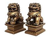 Yudu - Figura de Feng Shui (2 unidades), diseño de perros Fu...