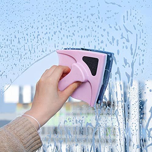 LZH FILTER Nettoyant Magnétique pour Vitres Double-Face Verre Brosse de Nettoyage, avec Anti-Chute Corde pour Double Vitrage Les Fenêtres avec 8-24 mm Épaisseur
