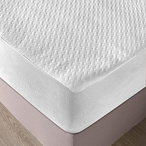ABAKUHAUS Matratzenschoner Wasserdicht, atmungsaktives Schutz überwurf, elastische Bettdecke, 90x200cm für Einzelbetten