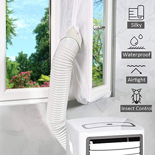 400CM Fensterabdichtung für mobile Klimageräte Klimaanlagen Wäschetrockner und Ablufttrockner,AirLock zum Anbringen an Fenster, Dachfenster Flügelfenster keine Bohrlöcher erforderlich