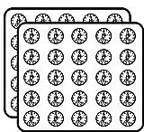 Round White Minuteman 1776-13 Stars Minutemen Patriot Border Sticker for Scrapbooking, Calendars, Arts, Kids DIY Crafts, Album, Bullet Journals 50 Pack