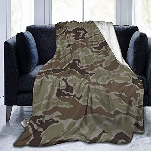 NA Camouflage Texure ultrazachte microfleece deken warme deken voor bed bank woonkamer