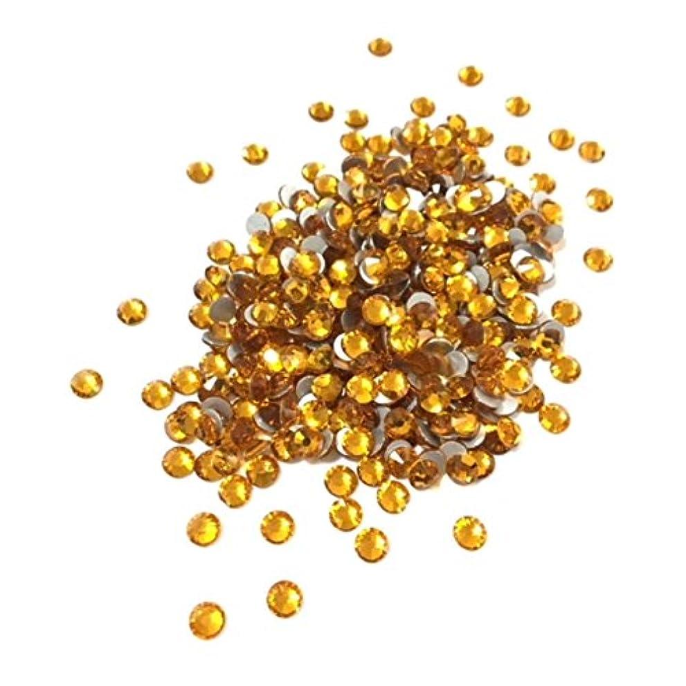 【ネイルウーマン】最高品質ガラスストーン!スワロ同等の輝き! トパーズ 黄色 イエロー (約100粒入り) (SS5, トパーズ)