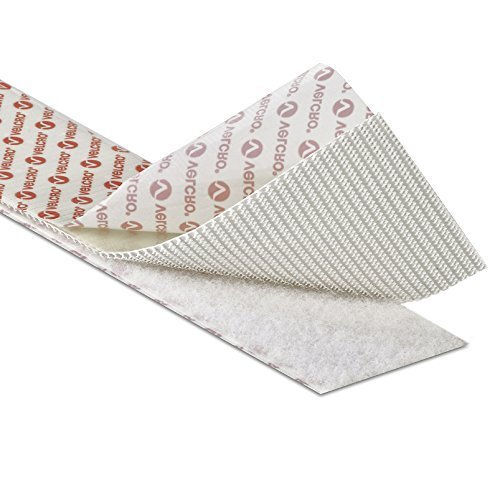 velcro Brand fermeture scratch adhésif dos collant bande Fixation in 5cm large en blanc - Blanc, 5 Metres