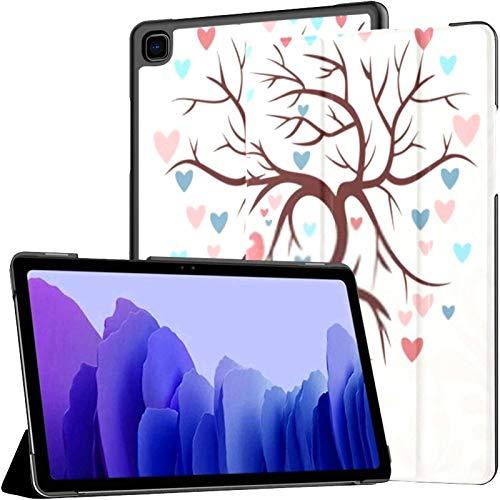 Funda para Tableta Samsung A7 con Forma de árbol de Boda, corazón, Dos pájaros, Funda para Samsung Galaxy Tab A7, 10.4 Pulgadas, Funda Protectora de liberación 2020, Funda Protectora para Samsung GAL