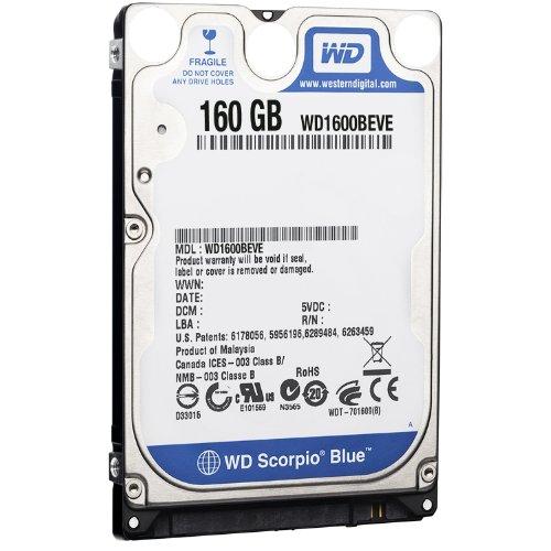 Western Digital WD1600BEVE Scorpio Blue 160GB interne Festplatte (6,4 cm (2,5 Zoll), 5400rpm, 8MB Cache, E-IDE)