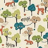 Textiles français Baumwollstoff | Tiere des Waldes