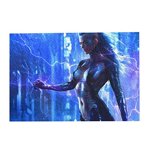 Jigsaw Picture Puzzles Gift For Girl 300pcs Educational Family Game Wall Artwork, Boobs Video Games Women Futuristic Big Boobs Soufiane Idrassi